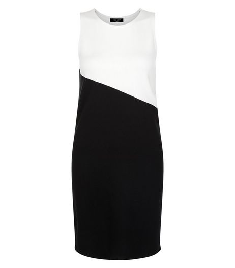 Tall Black Colour Block Bodycon Dress | New Look