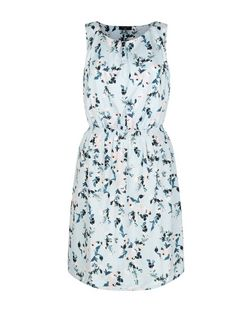 Tall Blue Floral Print Sleeveless Dress | New Look