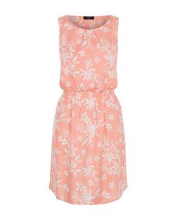 Tall Pink Tropical Print Sleeveless Dress | New Look