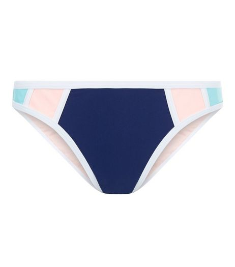 Pink and Blue Colour Block Bikini Bottoms | New Look