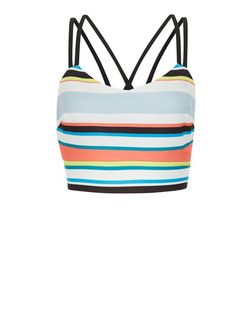 Pink Stripe Strappy Crop Top | New Look