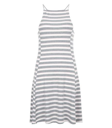 Pink Stripe Strappy Swing Dress  | New Look