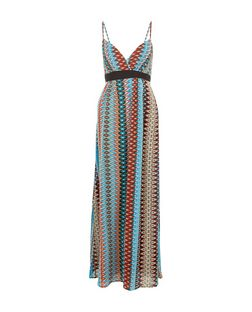 Mela Black Aztec Print Maxi Dress | New Look