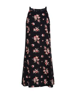 Teens Black Floral Print Slip Dress | New Look