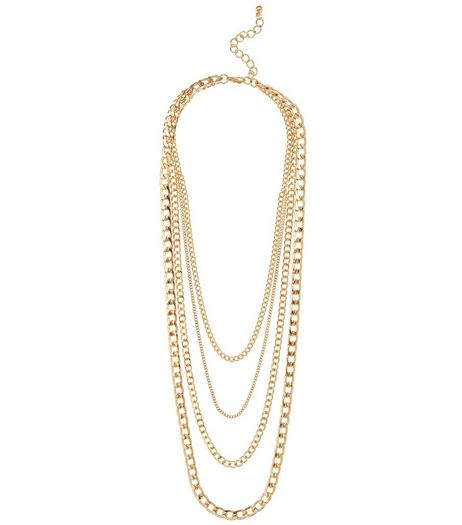 Gold Layered Chain Necklace | New Look