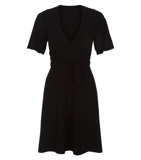 Anita and Green Black V Neck Wrap Dress | New Look