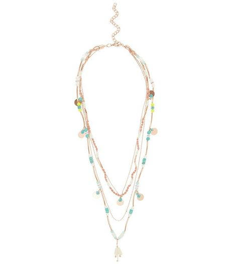 Multicoloured Sequin Disc Layered Necklace | New Look