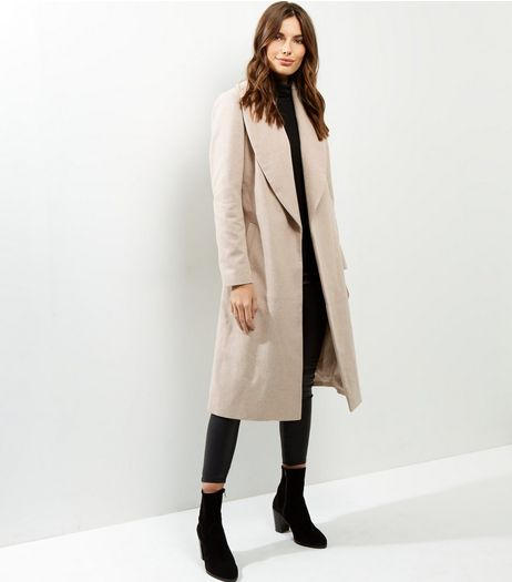 Camel Wrap Front Belted Maxi Coat | New Look