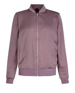 Mink Sateen Bomber Jacket  | New Look