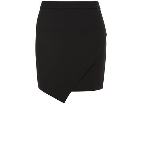 Teens Black Wrap Skirt | New Look