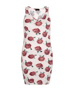 Teens Lilac Floral Print V Neck Bodycon Dress | New Look