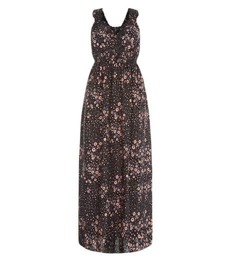 Apricot Black Daisy Print Maxi Dress | New Look