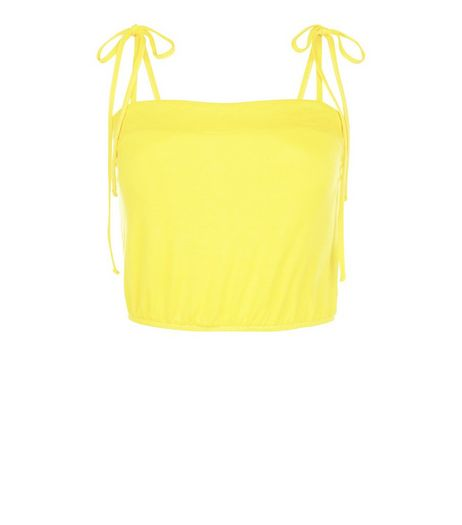Yellow Tie Strap Cami  | New Look