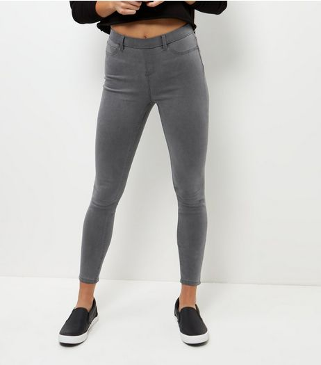 Dark Grey Jeggings  | New Look
