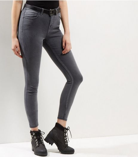 Dark Grey Supersoft Super Skinny Jeans | New Look
