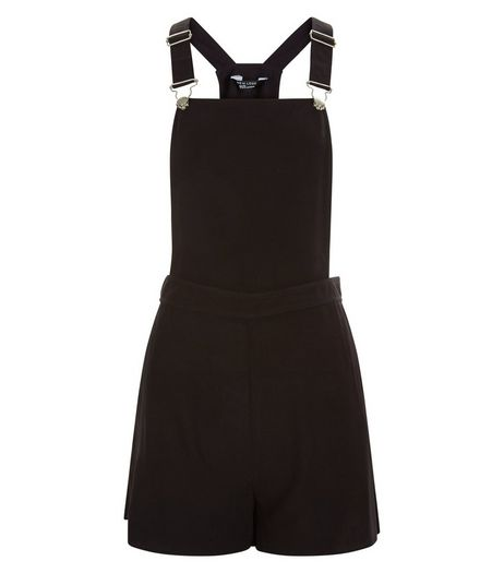Teens Black Pinafore Playsuit  | New Look