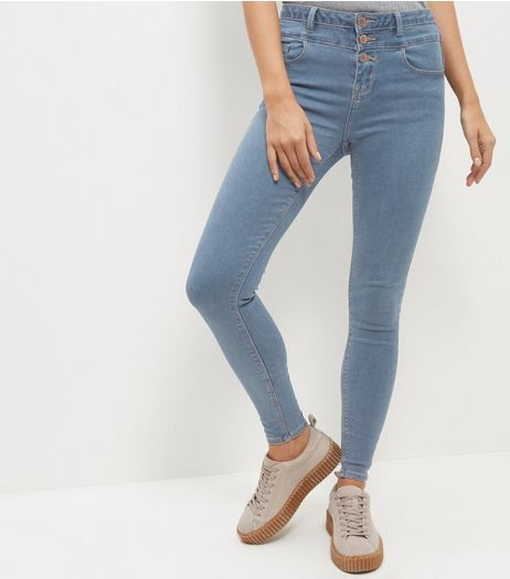 Light Blue High Waist Skinny Jeans  | New Look