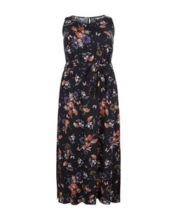 Curves Black Floral Print Maxi Dress | New Look