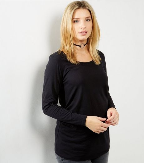 Maternity Black Long Sleeve Top | New Look