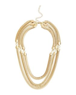 Gold Chunky Layered Necklace | New Look