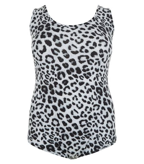 Curves Black Animal Print Bodysuit | New Look