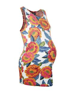Maternity Pink Tropical Print Vest | New Look