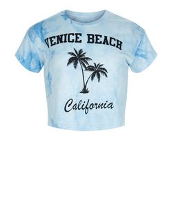Girls Blue Venice Beach Tie Dye T-Shirt | New Look