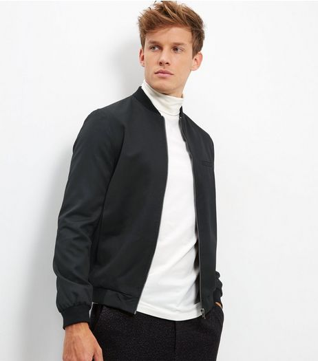 Black Tailored Bomber Jacket | New Look