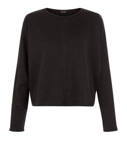 Black Batwing Long Sleeve Crop Sweater | New Look