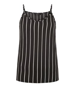 Teens Black Stripe Crepe Cami | New Look