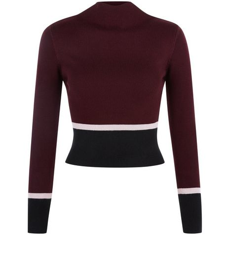 Red Contrast Trim Crop Top | New Look