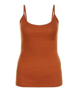 Rust Scoop Neck Cami  | New Look