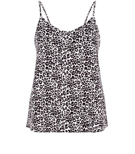 White Animal Print Cami  | New Look