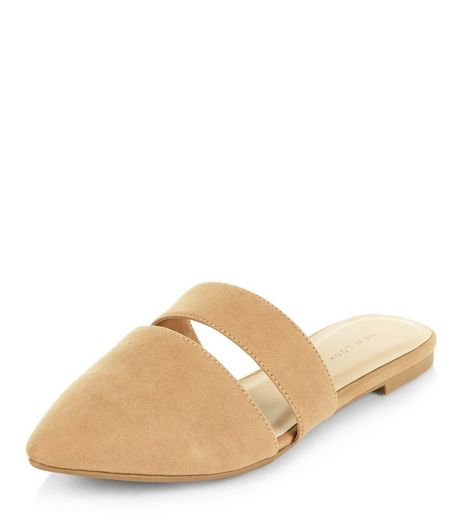 Mink Cut Out Pointed Mules  | New Look