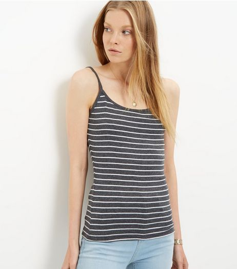 Black Stripe Vest  | New Look