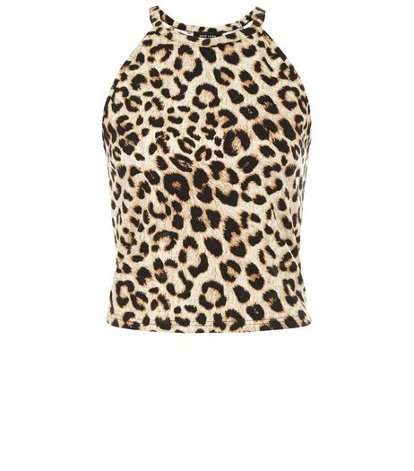 Brown Animal Print Cami Crop Top | New Look