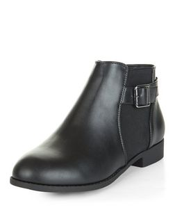 Teens Black Buckle Chelsea Boots | New Look