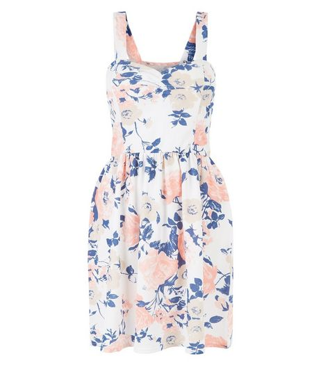 Cameo Rose White Floral Print Bustier Dress | New Look