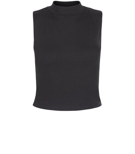 Teens Black Turtle Neck Sleeveless Top | New Look