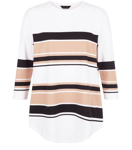 Camel Stripe Oversized Top | New Look
