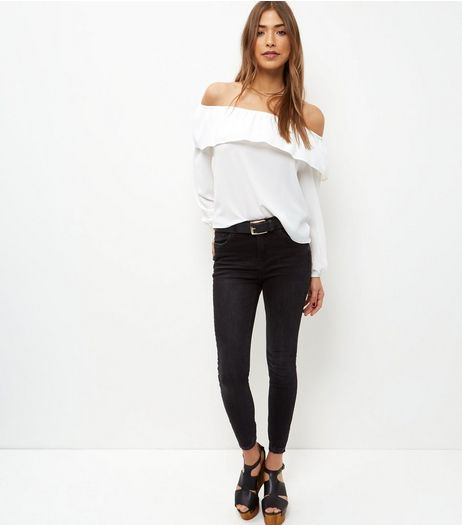Black Ankle Grazer Skinny Jeans | New Look