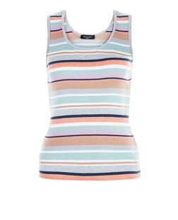 Tall Pink Stripe Ribbed Vest | New Look