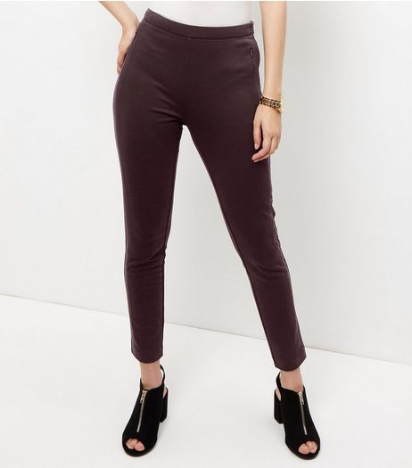Burgundy Slim Leg Suit Trousers  | New Look