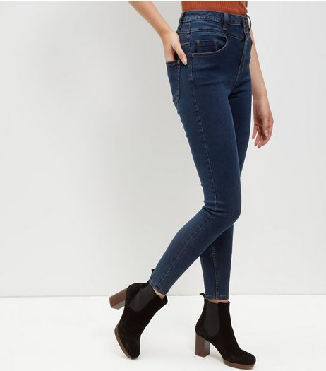 Navy High Waist Skinny Jeans  | New Look