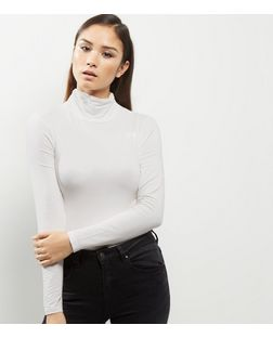 Cream Turtle Neck Long Sleeve Top | New Look