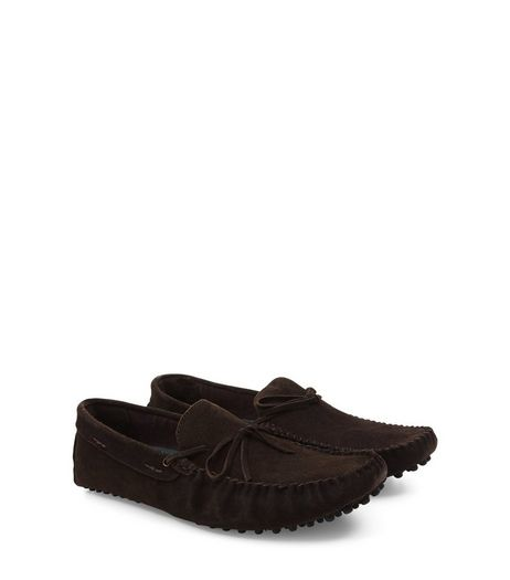 Brown Suede Tassel Front Loafers | New Look