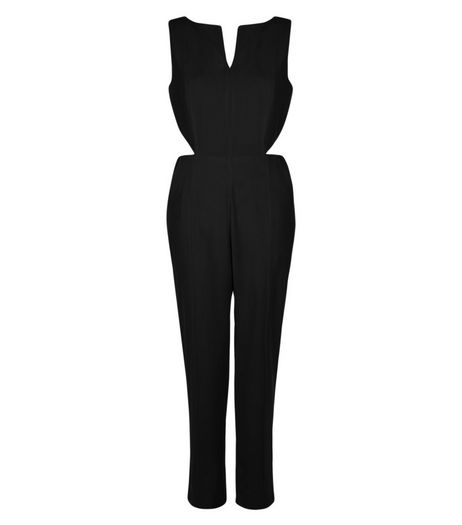Cameo Rose Black Cut Out Jumpsuit | New Look
