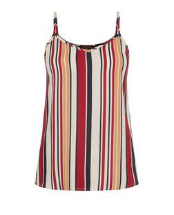 Teens Burgundy Stripe Cami  | New Look