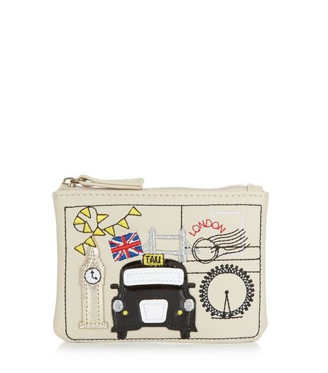 Cream London Taxi Cab Zip Top Coin Purse  | New Look