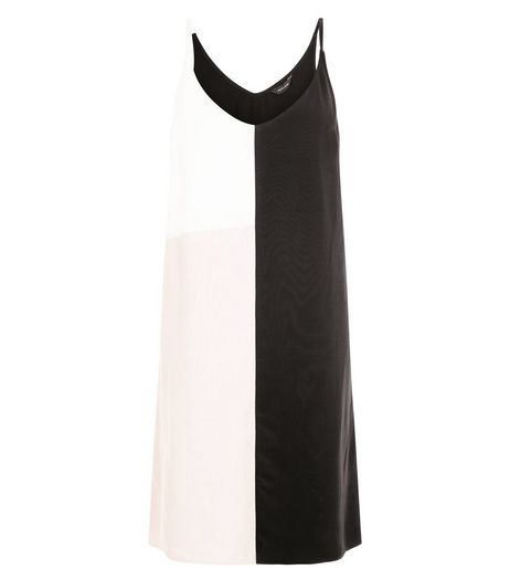 White Colour Block Cami Slip Dress  | New Look